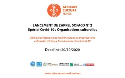 Appel à propositions SOFACO Lot 2 « Spécial Covid-19 / Organisations culturelles »